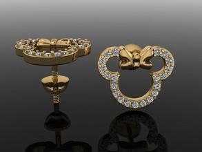 zarif mini fare stil elmas küpe mini küpe zarif nostaljik takı elmas mücevher fare küpe damızlık klasik Şirin KADIN kadın tasarım moda trendler Mickey Aşk eğilmek