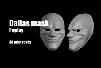 dallas payday mask helmet payday mask dallas chains wolf hoxton facemask face thief game lowpoly marvel spiderman corona ironman superman man pay day helmet games toys games toys other