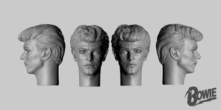 david Bowie cabeça David Bowie escala modelo personalizadas cabeça david Bowie Rocha 80s pop música poeira estelar ziggy Marte homem Estrelas arte esculturas jogos brinquedos jogos brinquedos