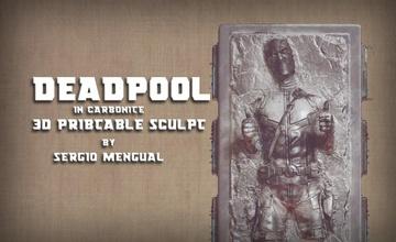 piscina morta carbonite 3d stampabile scultura piscina morta carbonite Guerre stellari Han meraviglia supereroe collezione statua arte 3dprintable uomo scifi sculture