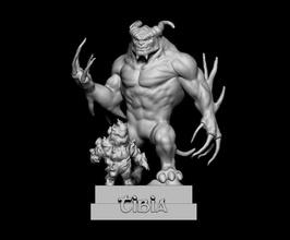 demônio tíbia Admirador arte demônio tíbia elementar estátua jogos elemental fogo impressionar impress3d demontíbia jogos brinquedos jogos brinquedos