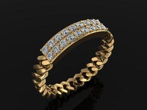 diamond bar cuban link chain ring mix sizes 6 jewelry ring band diamond band diamond ring diamond cuban link cuban link style style chain chain ring chain band cuban link band  frame diamond mix size 6 fashion trend rings