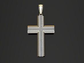 diamant traverser pendentif multi rangée traverser diamant canal ensemble pendentif religieux bijoux luxe or hip mode tendances Christ Christian religion église bijou antique moderne ancien pendentifs