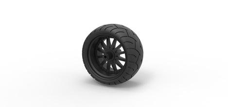 pressofuso ampia ruota posteriore chopper hobby-fai da te la ruota pneumatico parte camion giocattolo pressofuso moto choper choper hobby il fai da te hobby fai da te automotive
