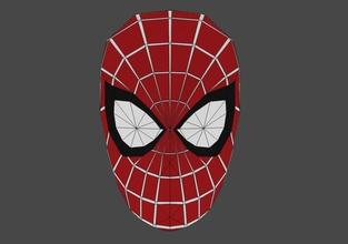 bricolaje diy hombre araña máscara papercraft modelo 3d modelo hombre araña máscara maravilla papercraft papel pepakura 3d modelo 3d modelado lowpoly modelado 3D licuadora objeto mascarilla personajes maravilla pasatiempo bricolaje diy pasatiempo bricolaje diy