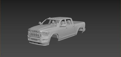 esquivar RAM 2500 2020 cuerpo impresión coche vehiculo coches pasatiempo americano auto automotor esquivar RAM 2500 2020 camión deporte modelo imprimir coche impresión manejar rc juguete plastico bricolaje diy