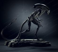 cane alieno passeggio fan art stampabile stl creatura carattere mostro alieno orrore bestia scultura statua scienza finzione xenomorfo xenomorfo arte sculture