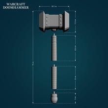 doomhammer warcraft games-toys hammer warcraft weapon 3d lowpoly highpoly 3dprint cosplay games toys games toys doomhammer printready