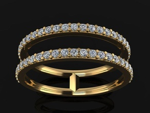 double diamond row band ring size 7 jewelry ring band diamond diamond ring double layer stack fashion diamond band row trend dainty diamond band row trend vintage classic women female stacking ring stacking band double band double band rings