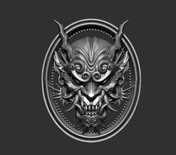 dragon head dragon head evil oni creature magical satan ghost wild highpoly decoration ornament jewel pendant devil demon bas relief carving angry beast jewelry pendants