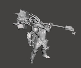 dragon knight moderkaiser 3d model moderkaiser modekaiser league  legends wild rift dragon knight games toys games toys