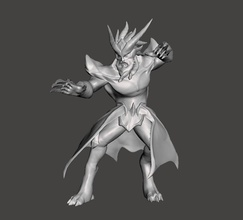 dragon oracle udyr tiger form 3d model udyr league  legends wild rift lol dragon oracle games toys games toys