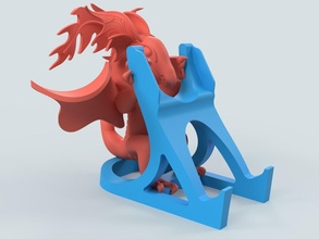 dragon phone stand dragon stand support phone mobile illustration fun art cute hobby diy hobby diy