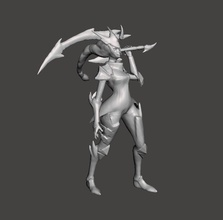 dragonslayer diana 3d model dragon slayer dragonslayer league  legends wild rift lol diana games toys games toys