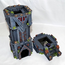 dwarven fortress dice tower stl 3d printing stl 3dprinting dungeons dragons dwarven dwarf dicetower dice tower dicebox warhammer aos ageofsigmar sigmar 40k khaos mmo fantasy fictional creature wizard mmorpg games toys games toys game accessories game accessories