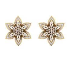 earrings 1281 gioielleria sterlina nozze Fidanzamento gioielleria gioiello stampabile solitario oro platino brillante argento orecchini borchie hoopsandhuggies lusso fiore gemma