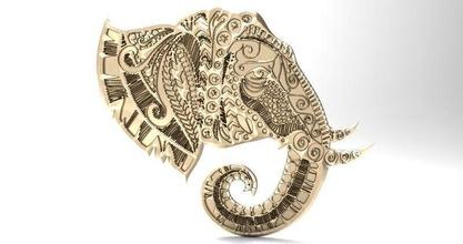 elephant mandala zentangle 1 elephant mandala zentangle bas relief relief cnc sculpture ganesha art other
