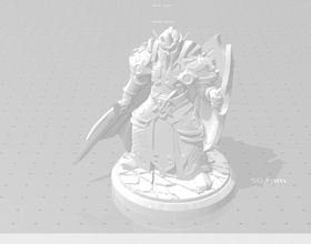 elf paladin 3d print figurine paladin armor warrior armour elf warcraft fantasy fictional creature crusader military person 3d statue figurine games toys print amored sculpture printable knight games toys