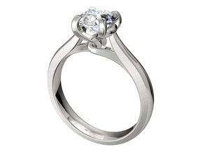 engagement ring solitaire model ready 3d printing -cc90 engagement ring solitaire ring wedding ring women ring jewelry ring ring jeweler ring marriage ring luxury ring diamond ring bridal set band gold ring platinum ring gems ring gemstone ring 3d ring bijouterie jewelry rings