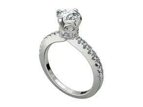 engagement ring solitaire model ready 3d printing -cc91 engagement ring solitaire ring wedding ring women ring jewelry ring ring gift ring jeweler ring marriage ring luxury ring diamond ring bridal set gold ring platinum ring gems ring gemstone ring 3d ring bijouterie jewelry rings