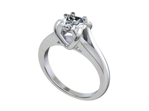 engagement ring stl file format ready 3d printing - cc80tin engagement ring solitaire ring wedding ring women ring jewelry ring ring model gift ring jeweler ring marriage ring luxury ring diamond ring bridal set shadow band gold ring gems ring gemstone ring 3d ring bijouterie jewelry rings