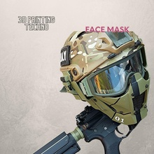 face mask stl files high quality 3d print model digital stl helmet protection safety mask security danger war army military armor knight helm eyewear disguise junction shield lock crusader warning  games toys games toys