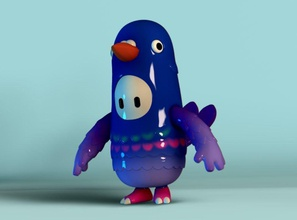 fall guys dove fall guys fallguys game toy character figure onlinegame art massive multiplayer battle 3dprint games toys dove pigeon bird games toys