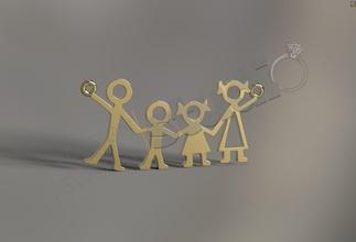 family fashion pendant 3d model family family pendant kid kid pendant parents parents pendant family parents symbol 3d model jewel jewelry jewellery jewel pendant jewelry pendant family jewelry art silver design people pendants