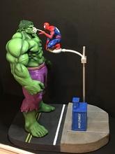 fan arte hulk ragno uomo diorama comico carattere i fumetti hulk uomo Ragno eroe supereroe Stampa scultura arte stampabile cartone animato sculture statua mutante meraviglia mutanti mutazione radiazione