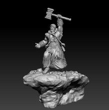 fan art - thrall warcraft wow shaman horde orc fantasy fictional creature mmo mmorpg fantasy art sculpture print printable statue sculptures 3dprint