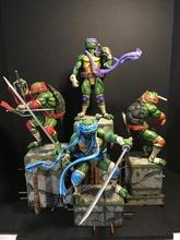 ventilador Arte tmnt diorama conjunto tmnt mutante ninja tortugas cómic historietas cómic héroe heroes media concha dibujos animados Arte impresión estatua imprimible modelo esculturas mutantes mutación