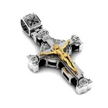 mode orthodoxe traverser traverser Christian bijoux orthodoxe Jésus argent religion église crête or pendentif bijoux bijou pendentifs