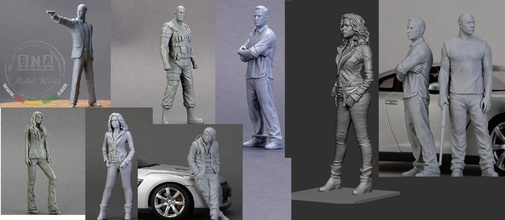 fast furious crew 3d print model figures 3d print model man character human clothing body head business games toys games toys