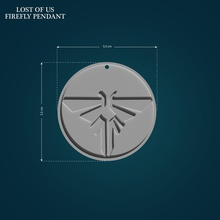 firefly pendant pendant medalion medal symbol lastofus lastofus2 thelastofus thelastofus2 tlou2 tlou ellie joel firefly fireflies necklace lowpoly highpoly game 3dprint printable games toys games toys