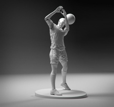 footballer headstrike stl games-toys footballer soccerer ball man character game 3d human free championship euro 2016 league france player match sport games toys games toys