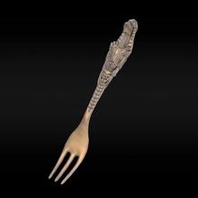 forkalien forchetta alieno argento stampabile gioielleria gioiello xenomorfo miniatura figurina coltello cucina statua