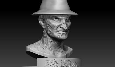 Freddy krueger escultura Arte Freddy Krueger 3dprinter stl zbrush obj esculturas