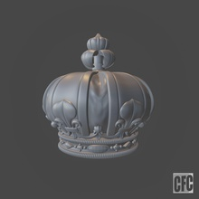 funeral crown louis xviii - 3d model cnc - cfcroyalcrown02 royal crown royal crown real corona corona real engraving cnc milling carving woodcarving wood carving impresion 3d sculpture louis jewel engraver funeral crown carved art sculptures