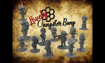 bandit coup charmant chibis gangsterbang gangsters cthulhu lovecraft personnages charmant Jeux jouets Jeux jouets planche planche Jeux