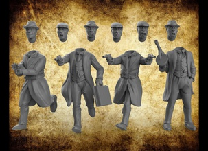 gangsters police interchangeable miniatures police gangsters jeux société interchangeable imprimable Jeux jouets Jeux jouets planche planche Jeux