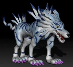 garurumon-digimon-3d printing high quality model art fantasy dragon sculpture zbrush creature digimon statue magical symbol volcano games toys games toys sculptures