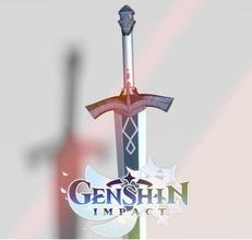 genshin impact silver sword genshin impact silver game art steel arms sword traveler cosplay cosplayprops games toys games toys