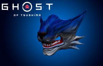 hayalet Tsushima Kurt maske model oyuncu oyun video oyun maske Kurt samuray Katana Japonya Japonca kültür oyun istasyonu kurt adam savaşçı dövüşçü oyuncaklar oyun oyunlar Aksesuarlar cadılar bayramı kostüm