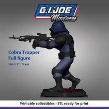 gi joe characters cobra trooper figure toys 3dprint cartoon printable actionfigures collectibles zbrush 3dmodel gijoe games games toys army combat tvseries 80s fun figure sculpture