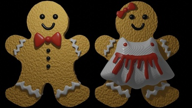 zencefilli çörek 2 in1 3d basılı model iyi Noel Noel Noel kutlama kardan adam doğum günü kış zencefilli çörek 2in1 indirim zencefil buz yıl bisküvi ekmek fırın pişmiş Christma top