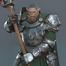 guerrier orc 3d print figurine orc guerrier warcraft horde alliance boss toys figurine games satue knight helmet armor statue crusader fantasy fictional creature sculpture art warrior military person games toys