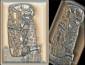 gustav klimt kiss cnc 3d router art router gustav klimt  kiss engraving artcam stl file cnc 3d printing woodworking carpentry sculpting aspire engraver gustavklimt art sculptures