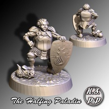 halfing paladin halfing paladin miniature knight roleplaying dnd figurines dungeons dragons mini games toys games toys board board games