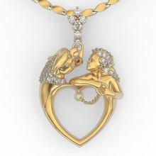 coração tigre pingente magerit colar pantera diamante imprimível prata branco esterlina moda ouro pingente jaber joalheria pingente colar gema Puma bengala pingentes