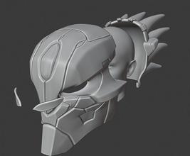 capacete strifer darksiders madeira escultura escuro darksiders strifer videogame capacete máscara 3dprint imprimir impresion3d casco jogos brinquedos jogos de jogos de brinquedos jogo os acessórios jogo de acessórios